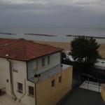 Blick von unserem Hotel-Balkon in Rimini