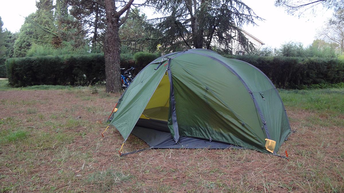 quasi die einzigen Gäste am Campeggio Monti del Sole