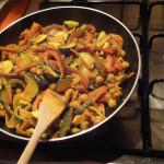 Gemüse-Curry-Pfanne selbstgekocht