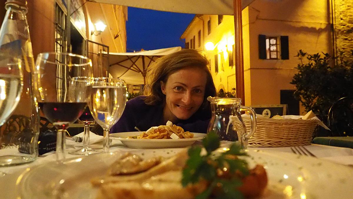 Abendessen in Castiglione