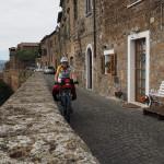 auf der Stadtmauer von Orvieto