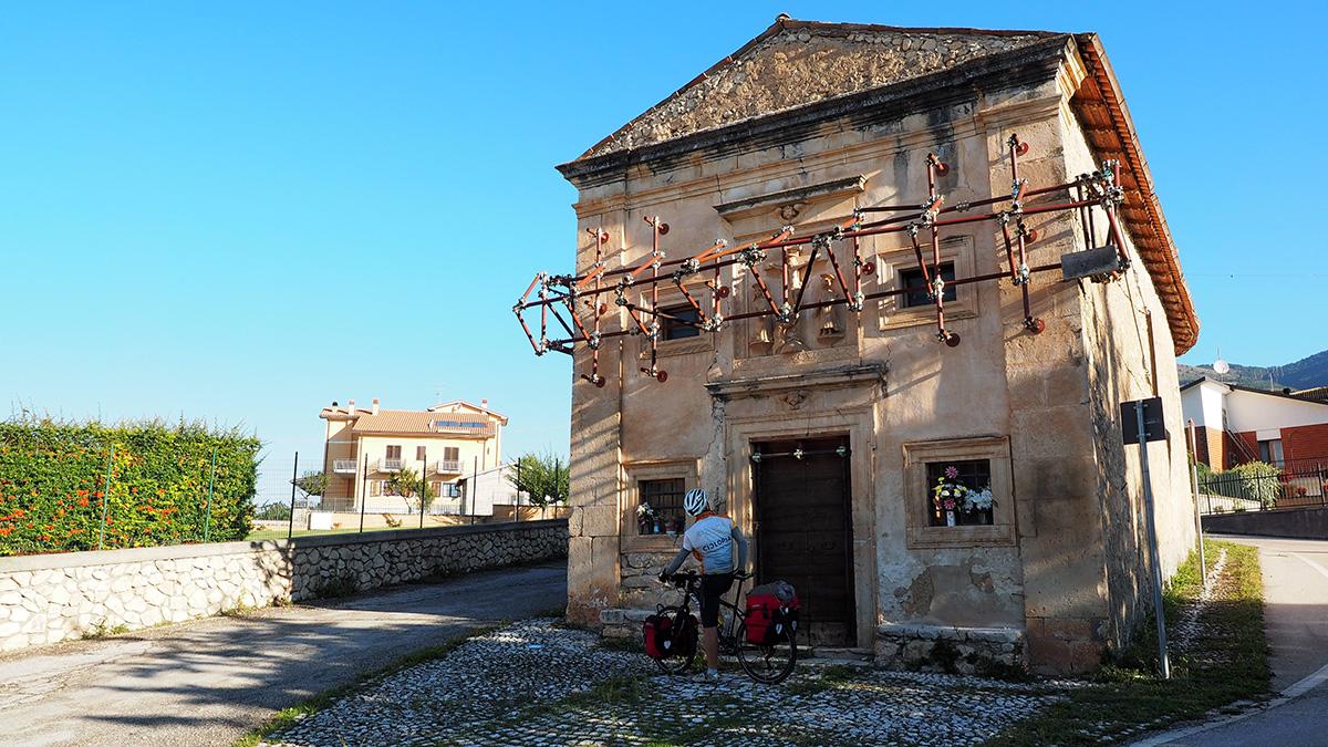 auf dem Weg von Poggio Picenze nach San Martino