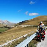 Anhöhe vor der Abfahrt nach Fonte Cerreto