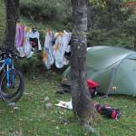 wilder Zeltplatz am Weg zum Passo delle Campannelle