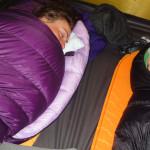 Schlafstellung in unserem Exped Venus II Extreme