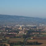 Blick auf die Basilika Santa Maria degli Angeli