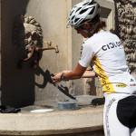 Weintrauben waschen in Gubbio