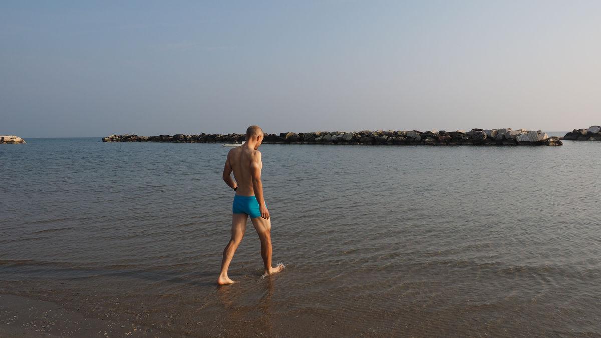 am Tag danach: schwimmen in der Adria