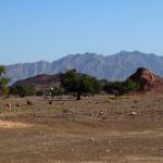 prachtvolle Landschaft entlang der 8er Yanqul – Ad Dreez Road
