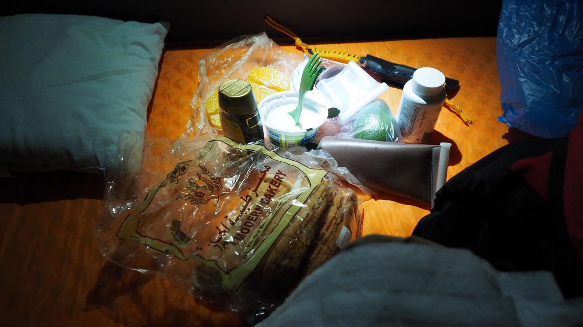 1. Frühstück im Zelt