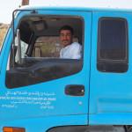 Wasser-Truck-Fahrer ... wollte unbedingt fotografiert werden