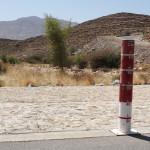 Wasserstandsanzeige bei Wadi-Durchfahrt