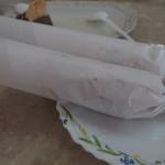 wie immer gibt es zum Chai in Papier gerollte pikante Sandwiches