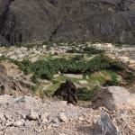 unter uns die kleine Berg-Oase Al Hajir