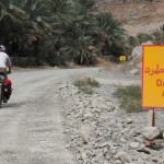 der Aspghalt war nur kurz - sehr lange Baustelle durchs Wadi A'Sahtan