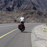 Steigung auf der Rustaq-Miskin Road