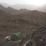 Zeltplatz irgendwo im Bergland zwischen Küste und Wüste