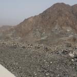 Blick zurück: Steigung auf ca. 850m kurz vor Al Masarrah