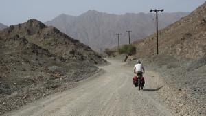 Schotterpiste von Al Masarrah hoch ins Bergland