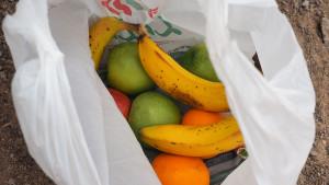 ein Omani schenkt uns einen Sack Obst