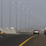 auf der Autobahn Nr. 7 Richtung Mahdah