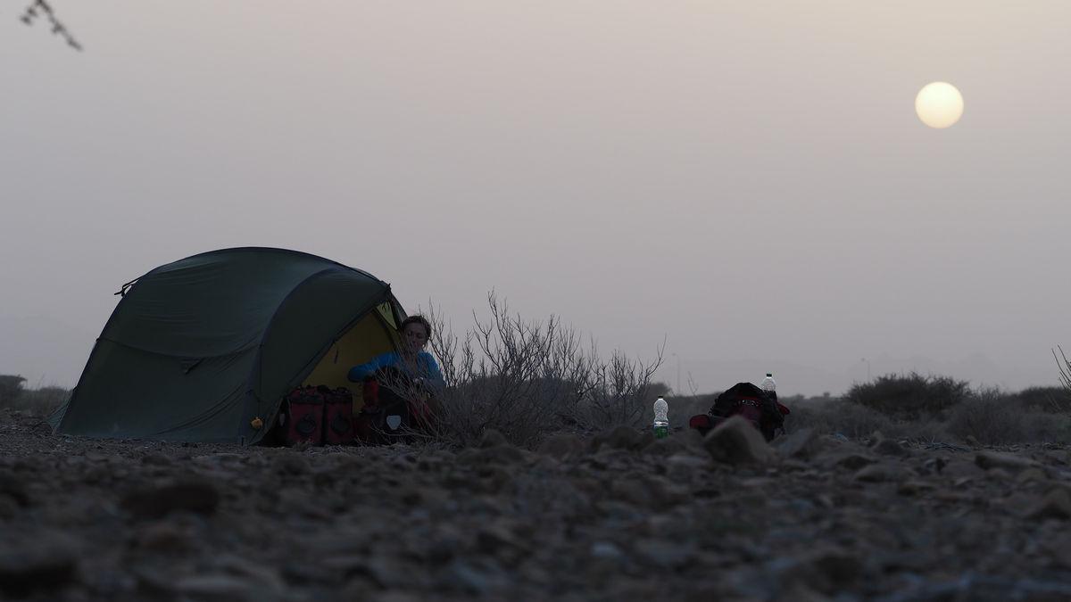 unser letzter Zeltplatz - 20km vor Mahdah