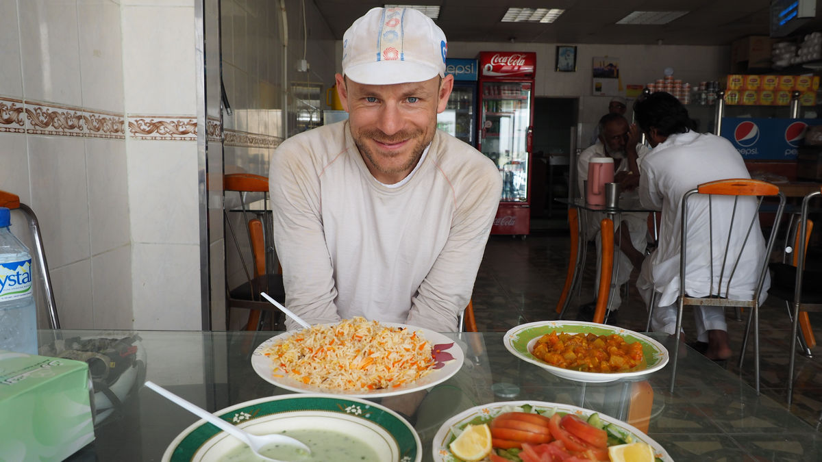 herrlich: ein großer Teller Reis mit Gemüse