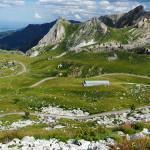 Blick vom Colle d'Esischie (2.365m) ins Tal