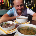 köstlich: Schwammerlsuppe mit Heidensterz im Gasthof Klug kurz vor Modriach