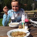 Einkehr bei der Trahütter Hütte - leckere Frittatensuppe