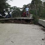 abrupte Sackgasse für Autos und Mopeds - am Weg nach Taoyuan