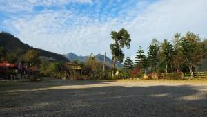 Morgenstimmung am Zeltplatz nahe dem Shihmen Reservoir
