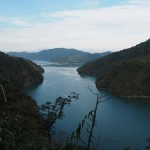Blick über das Shihmen Reservoir / Dahan River