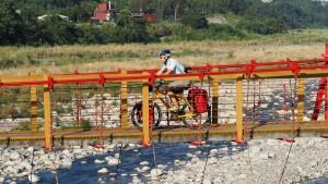 Dalin: Fußgängerbrücke über den Dajia Riverin