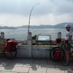Blick über den Sun Moon Lake beim Xuanzang Temple