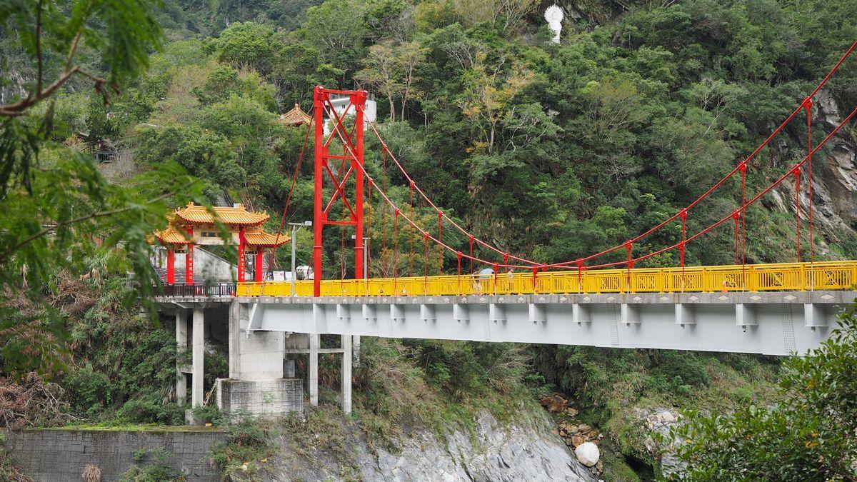 Brücke bei Tienhsiang in der Taroko-Schlucht