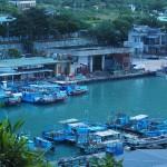 kleiner Hafen am Weg nach Jingpu