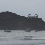 die Ost-Küste bei Regenwetter