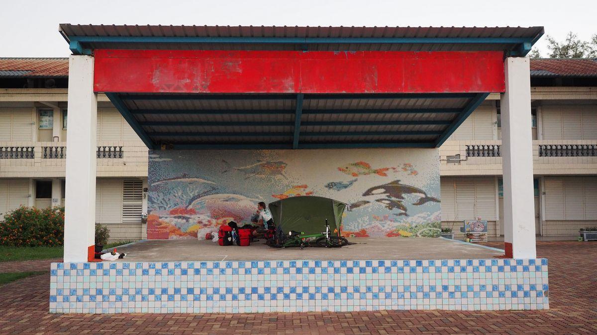 unser Luxus-Quartier in der Taitung County Fushan Elementary School