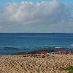Strand bei unserem Campingplatz/Baisha