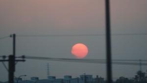 Sonnenuntergang vom Bus aus - am Weg Richtung Taipeh