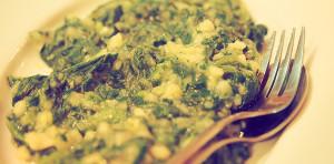 Konoba Jure (Rovinj): Erdäpfel mit Spinat