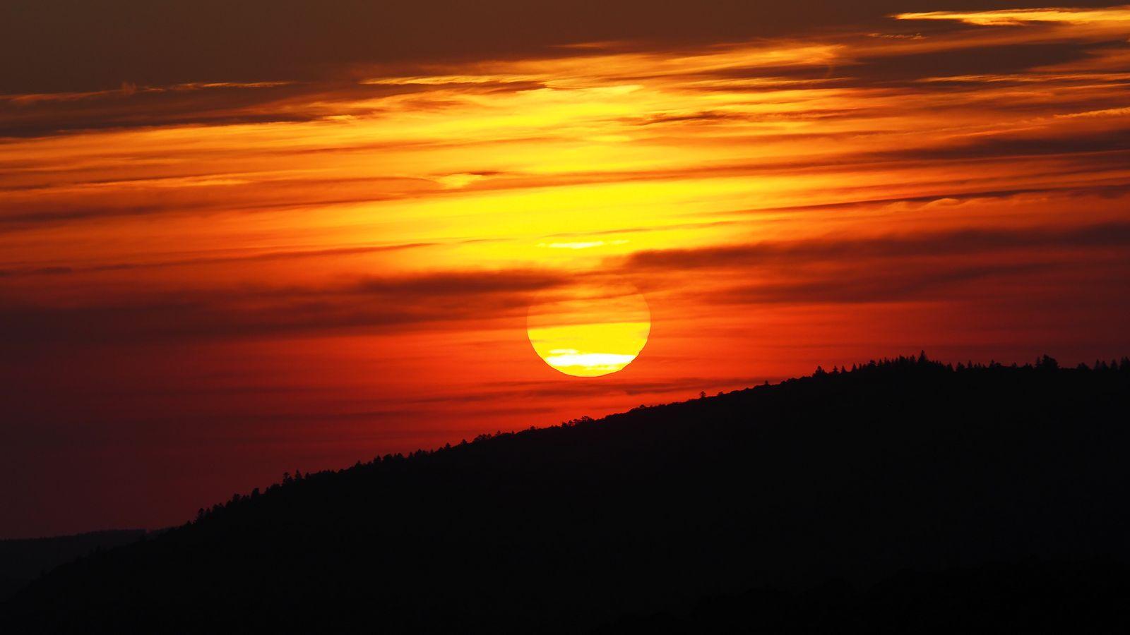 Sonnenuntergang in den Vogesen