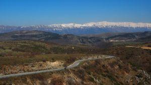 unterwegs zur Forca Caruso - Blick auf Gran Sasso Gruppe