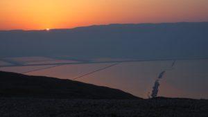 Sonnenaufgang oberhalb des Toten Meers