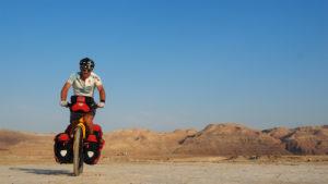 Radreise Israel - einsam duch die Judäische Wüste