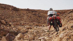 unterwegs am Israel Bike Trail zwischen Mitzpe Ramon und Zofar