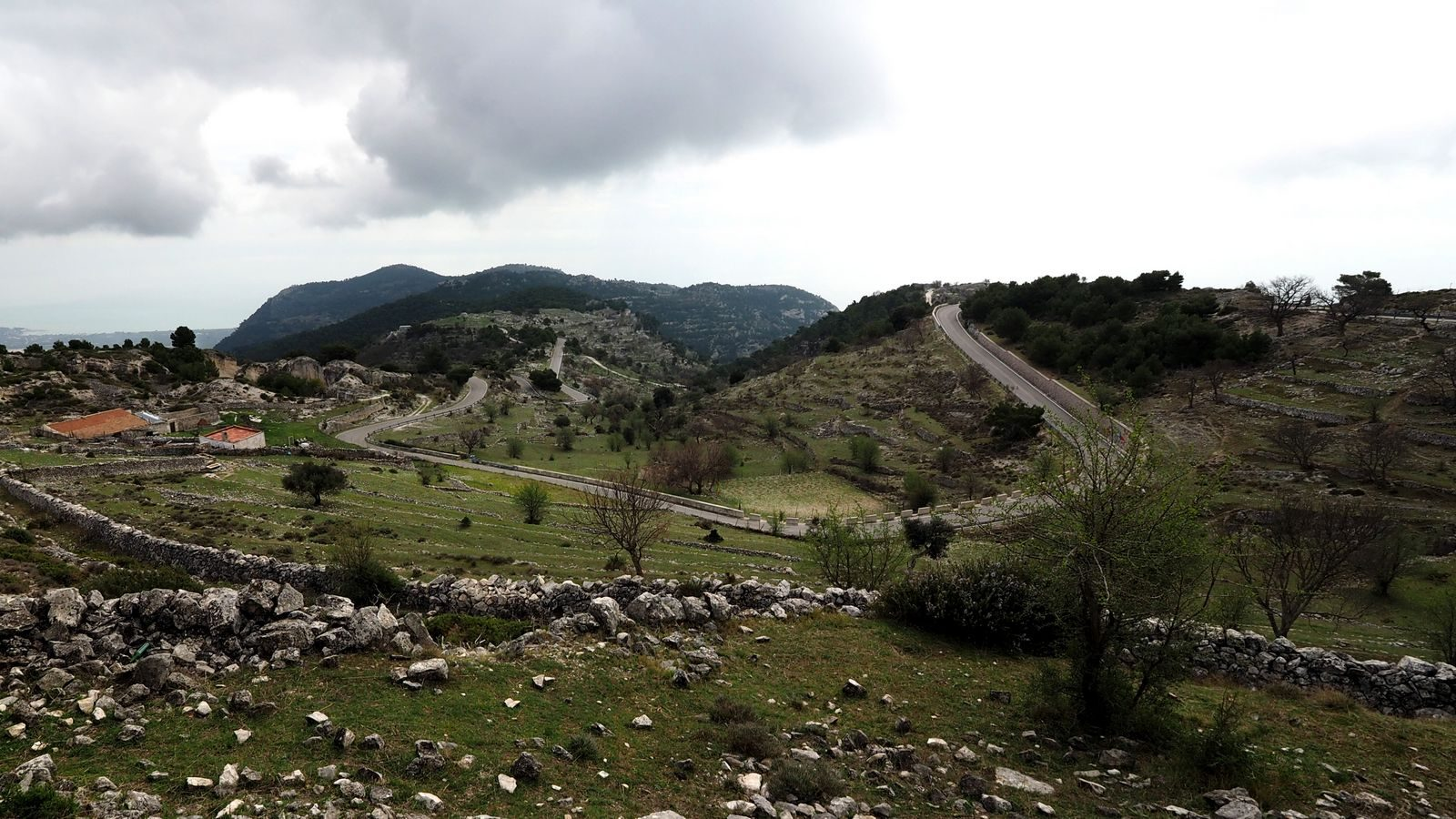 Auffahrt nach Monte Sant'Angelo (Gargano)