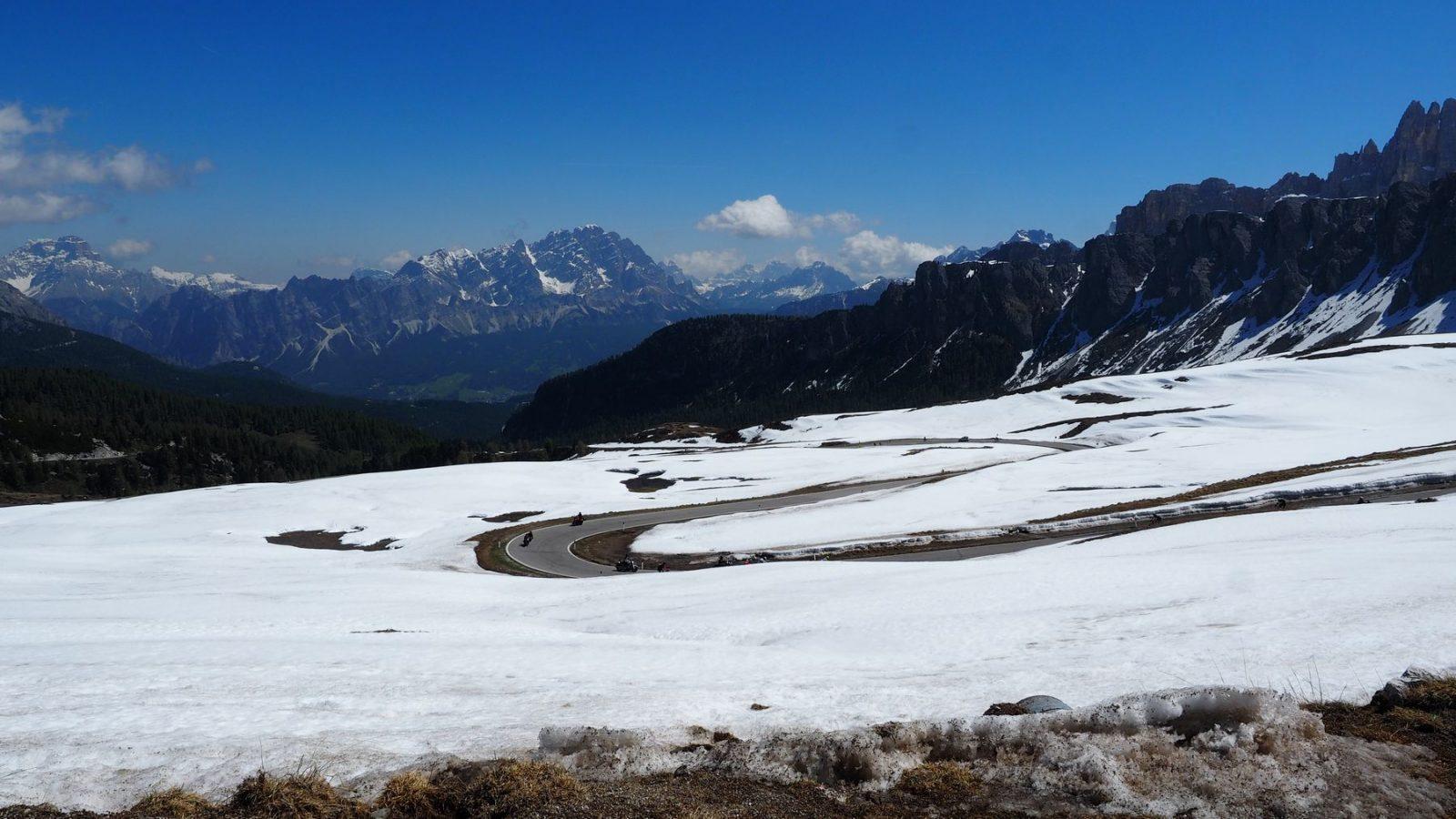 die letzten Kehren des Passo Giau (2.236m)