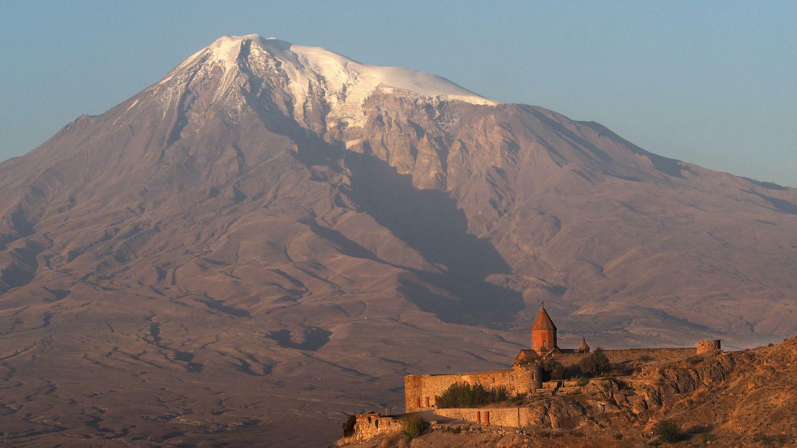Radreise Armenien - Chor Virap vor dem Ararat